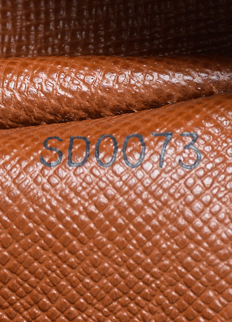 "Brown and Tan Louis Vuitton Coated Canvas and Leather Monogram ""Papillon 30"" Barrel Bag Serial"