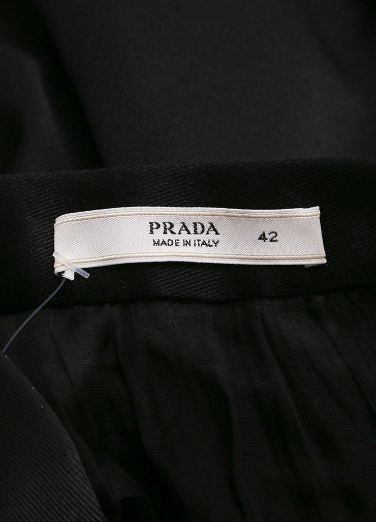 Prada Black Silk Bubble Skirt Brand