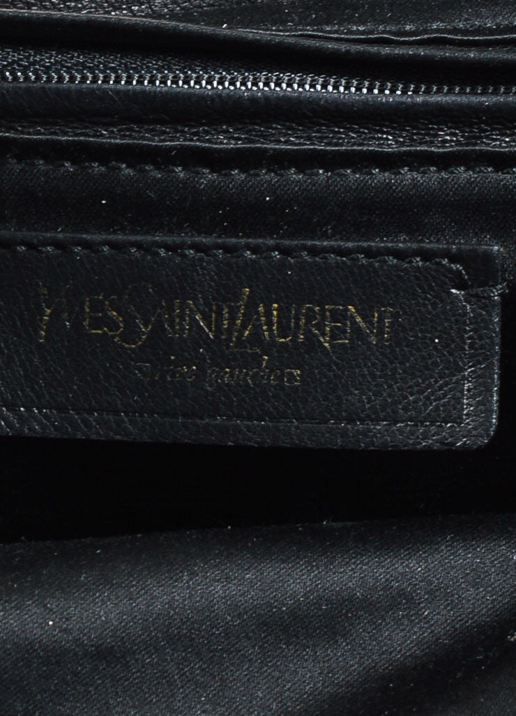"Yves Saint Laurent Rive Gauche Black Leather ""Muse Messenger"" Satchel Bag Brand"