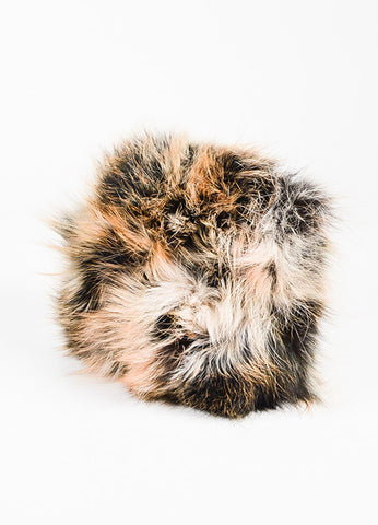 "Lanvin Brown Fox Fur ""Mini Pop"" Shoulder Bag Back"