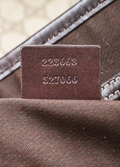 "Gucci Beige and Brown Coated Canvas Leather Trim ""GG Plus Tote"" Bag Serial"