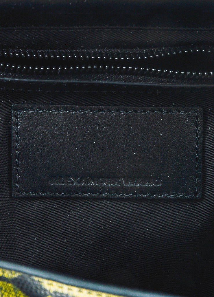 "Alexander Wang Lizard Embossed ""Prisma Skeletal"" Backpack brand"