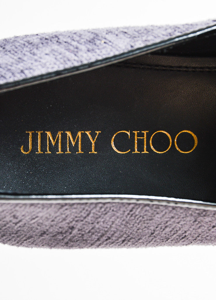 Men's Jimmy Choo Gray Red Back Textile Wasp Loafers Brand