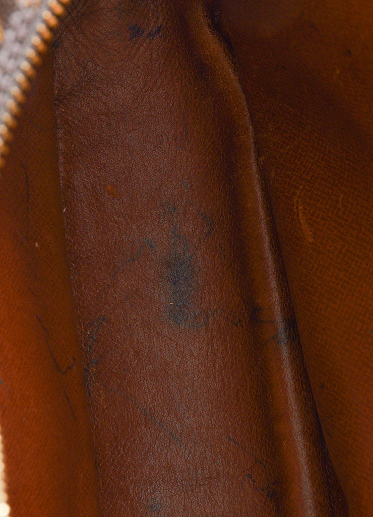 "Brown Louis Vuitton Coated Canvas Monogram ""Trocadero"" Shoulder Bag Interior 2"