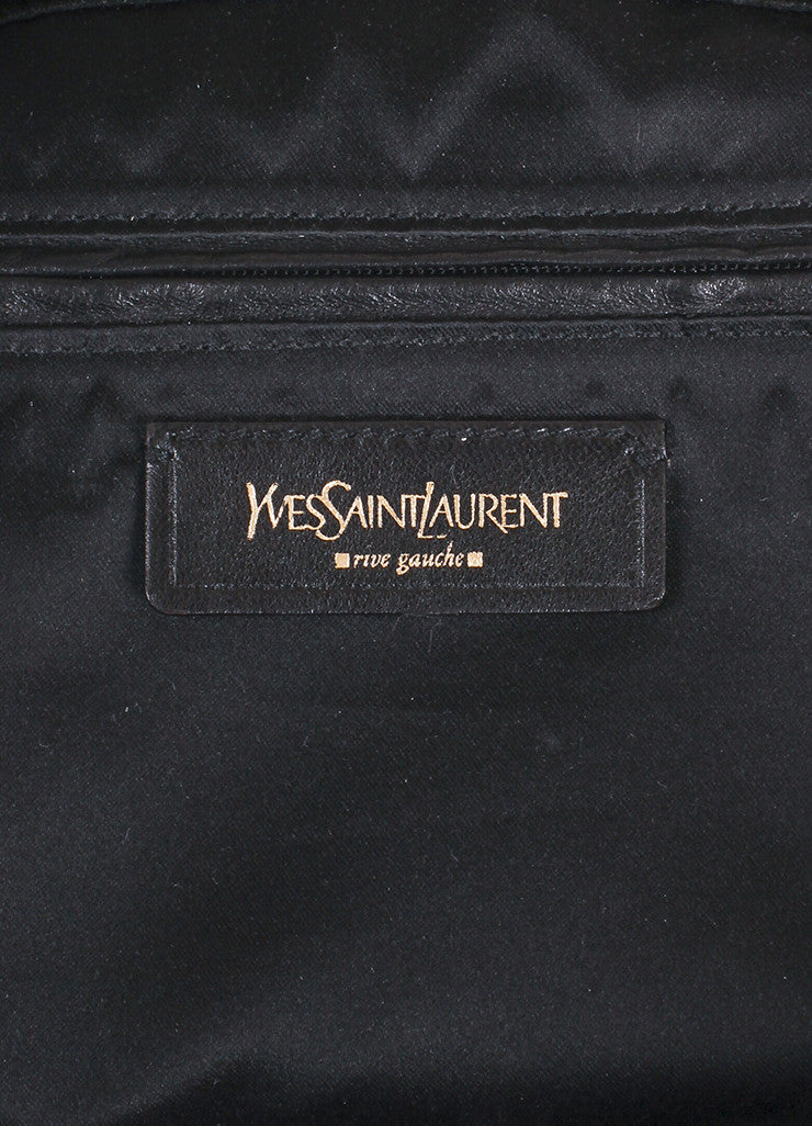 Yves Saint Laurent Grey Metallic Leather Tote Bag Brand