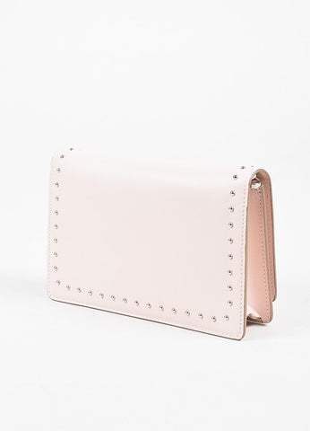 "Givenchy Pink Calf Leather Silver Stud "" 'Pandora"" Chain Wallet Clutch Bag Sideview"