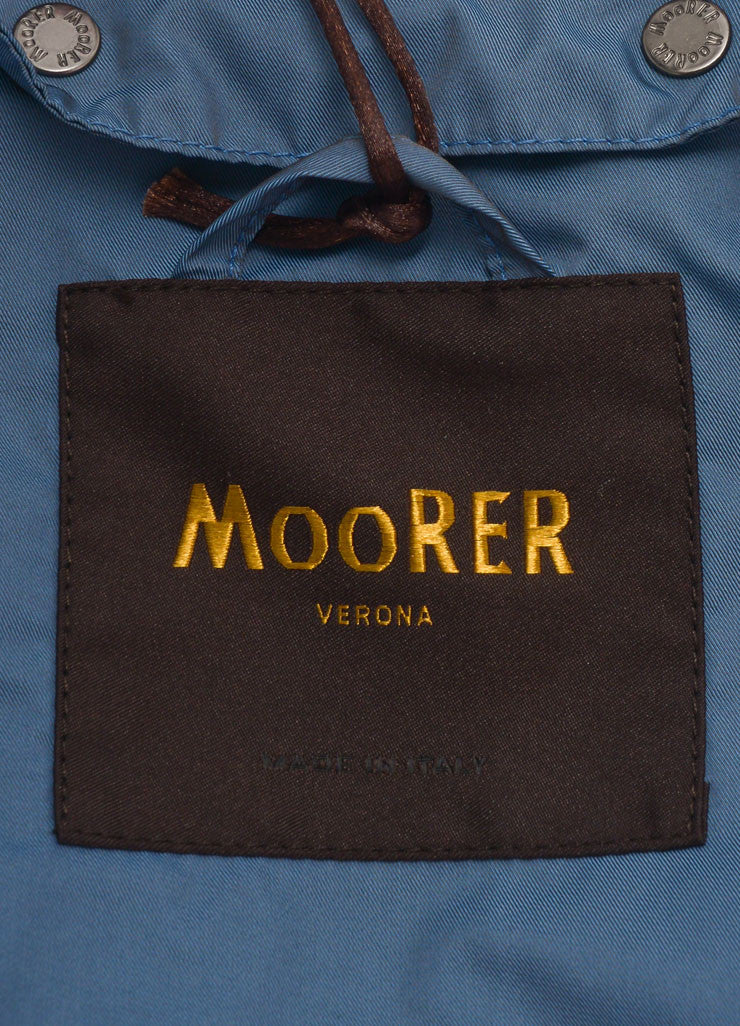 Mooreer New With Tags Blue Hooded Rain Coat Brand