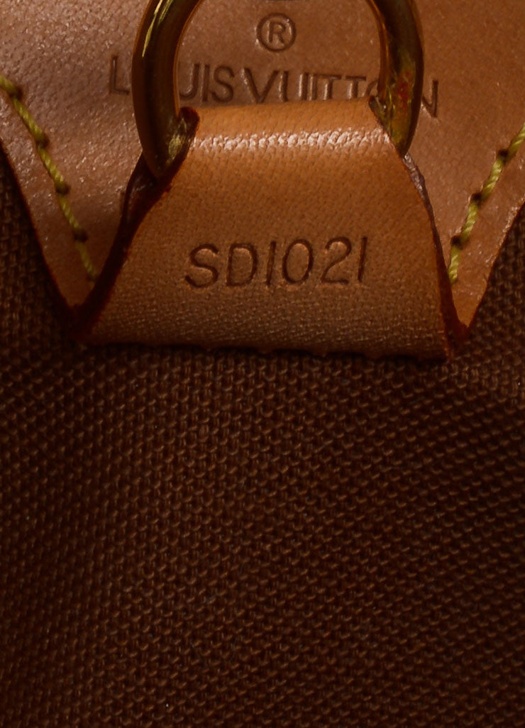 "Louis Vuitton Brown Coated Monogram Canvas Hardshell ""Ellipse PM"" Handbag Serial"
