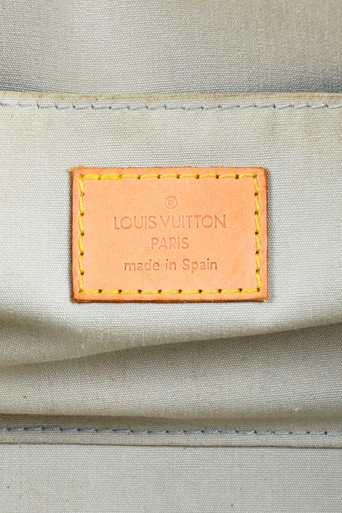 "Cream Louis Vuitton ""Perle"" Leather Monogram ""Roxbury Drive"" Bag Brand"