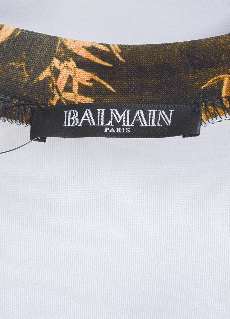 Yellow and Black í«ŒÇ?íëíìBalmain Bamboo Dragon Graphic Print Neoprene Sweatshirt Brand
