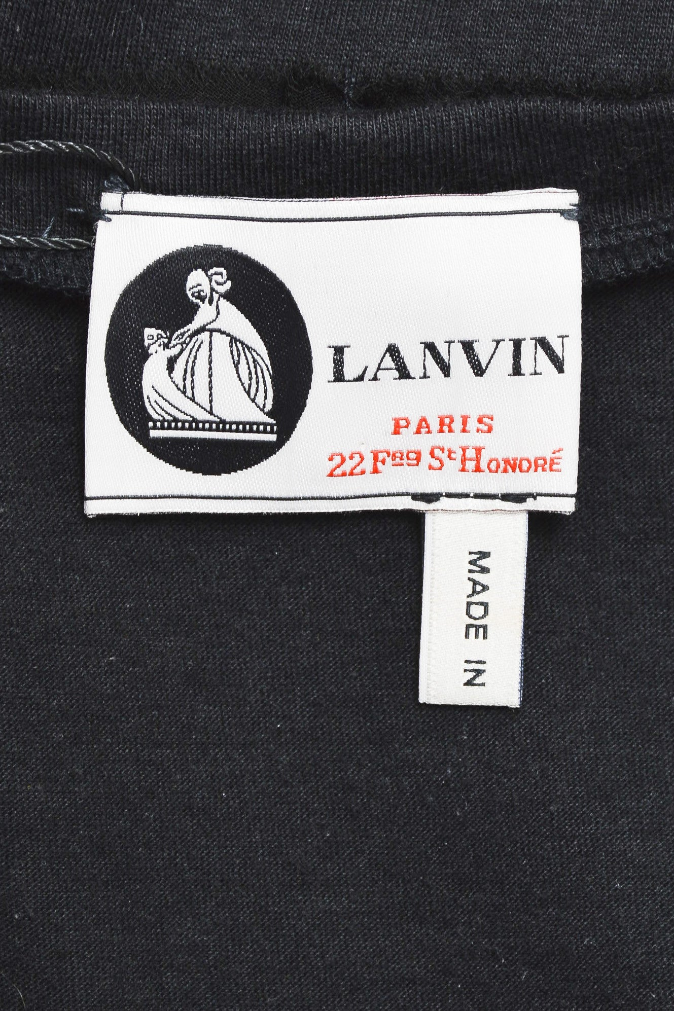 Lanvin Black Cotton Knit Chiffon Crystal Embellished Belted Sleeveless Dress Brand