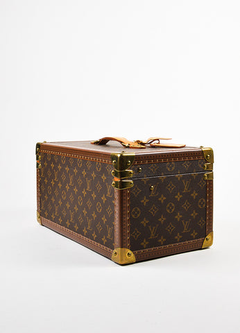 "Louis Vuitton Monogram Canvas ""Boite Bouteilles"" Hardshell Case With Mirror Sideview"