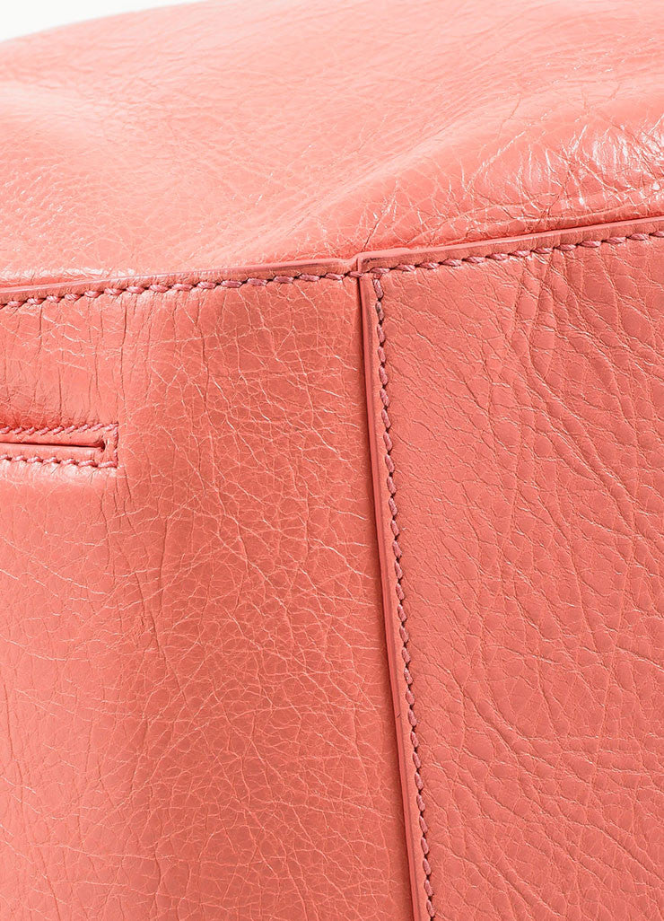 "¥éËBalenciaga Coral Pink Leather ""Giant 12 Traveller"" Convertible Backpack Detail"