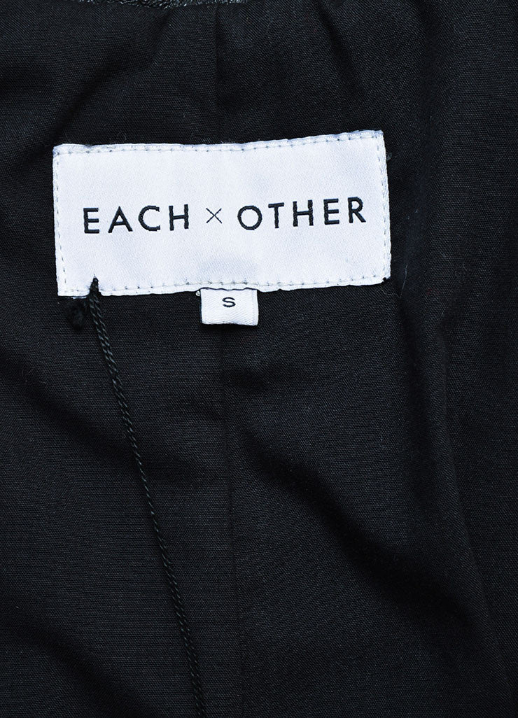Each x Other Black Leather Long Sleeve Trench Coat Brand