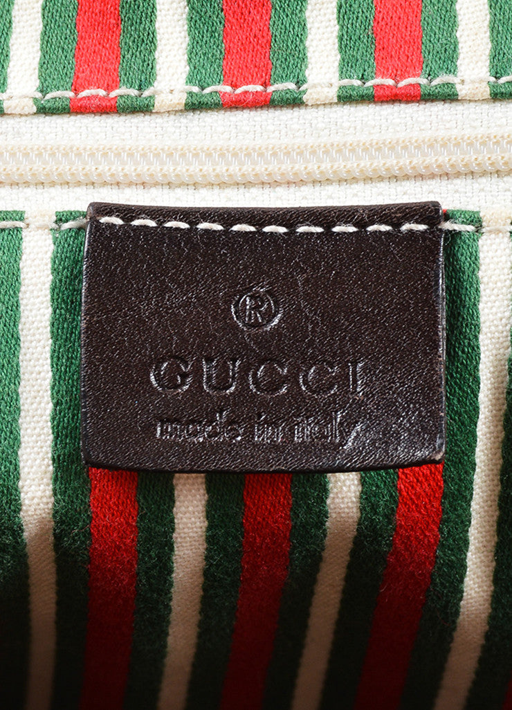 "Gucci Brown Monogram Canvas ""GG"" Tote Bag Brand"