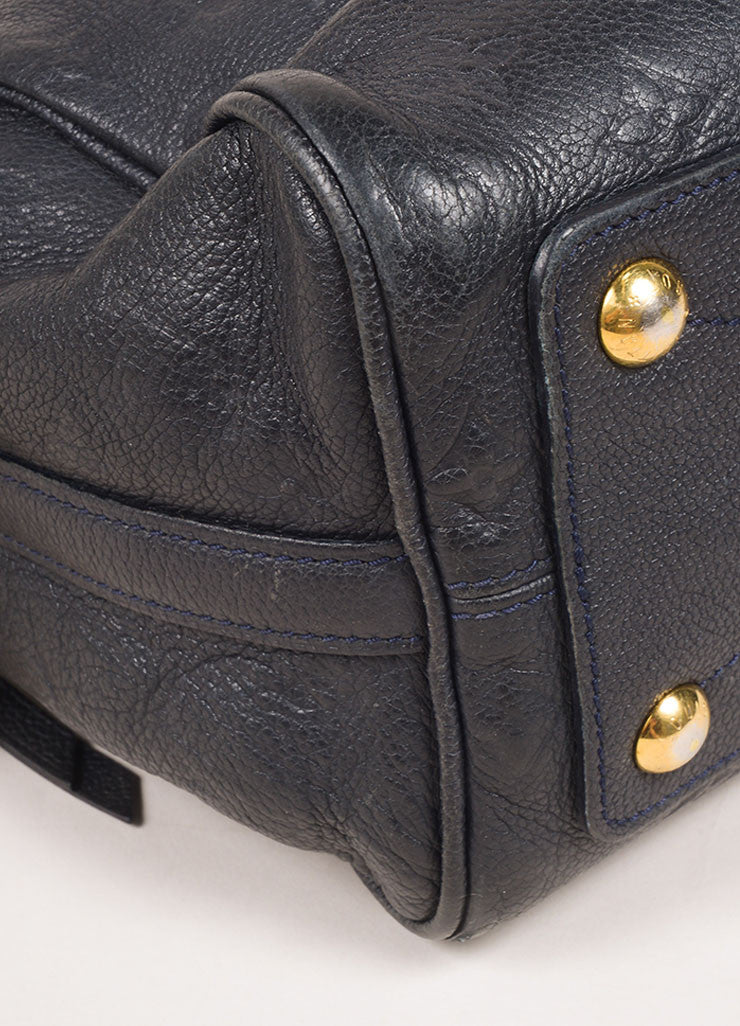 "Navy Leather Monogram ""Empreinte Speedy Bandouliere 25"" Bag"