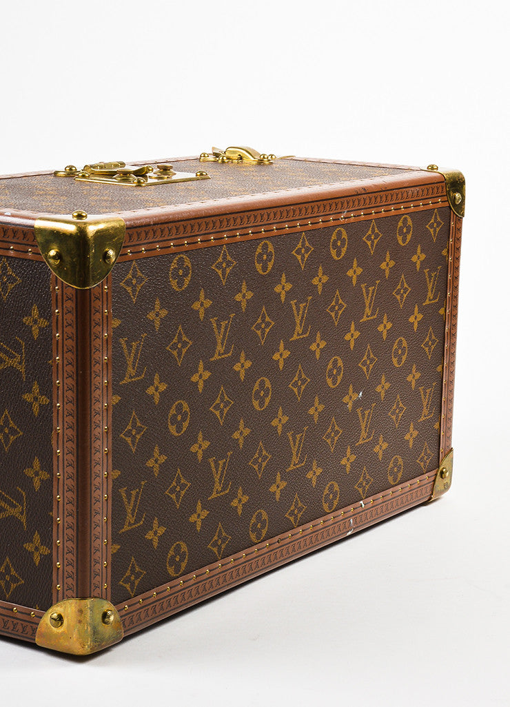 "Louis Vuitton Monogram Canvas ""Boite Bouteilles"" Hardshell Case With Mirror Bottom View"