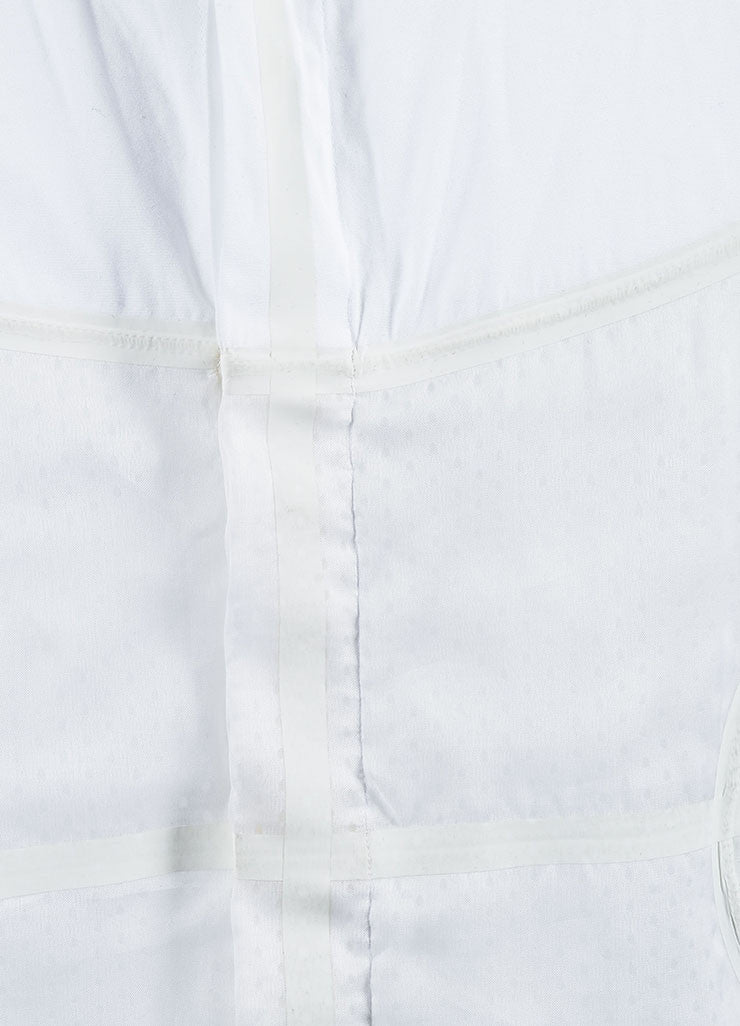 Men's Givenchy White Poplin Mesh Basketball Panel Button Up Shirt  Detail