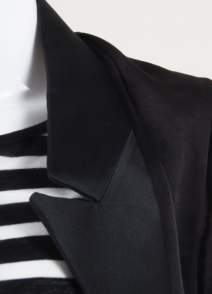 Stella McCartney Black Tuxedo Style Shirt Jacket Detail