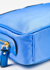 "Anya Hindmarch ""Cobalt"" Blue Nylon Patent Leather ""Suncreams"" Cosmetic Case Detail"