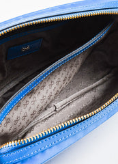 "Anya Hindmarch ""Cobalt"" Blue Nylon Patent Leather ""Suncreams"" Cosmetic Case Interior"