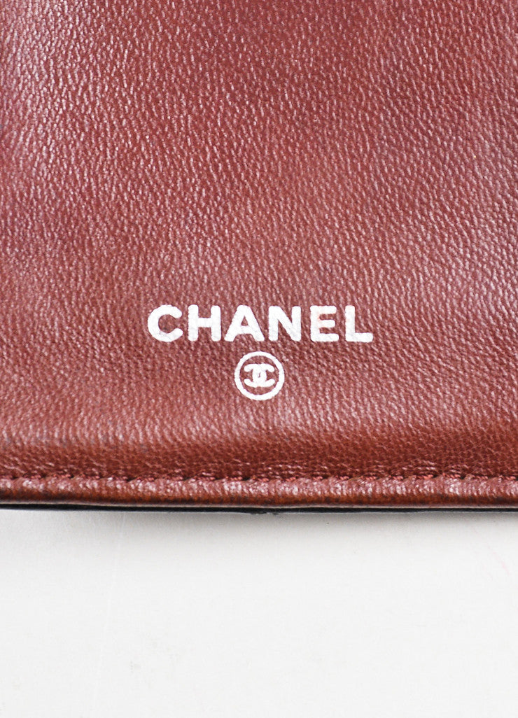 "Chanel Black Quilted Leather ""L Yen"" Bifold Continental Wallet Brand"