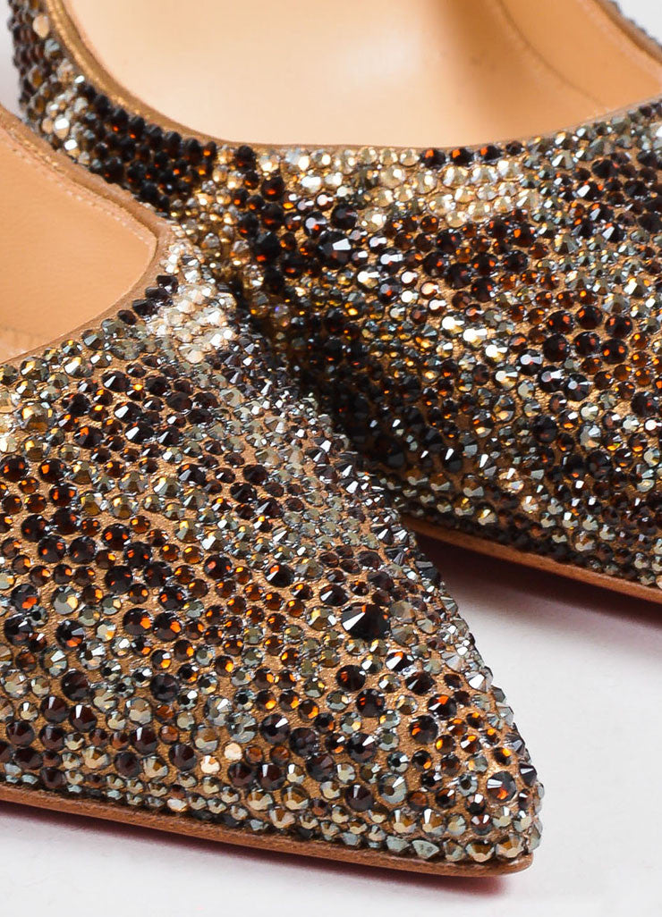 "Brown Christian Louboutin ""So Kate Strass Leopard 120"" Pumps Detail"