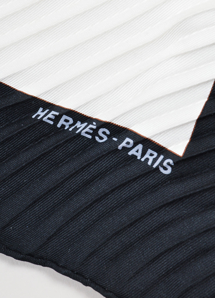 "Hermes Multicolor Silk Plisse ""Cuirs du Desert"" Accordion Scarf Brand"
