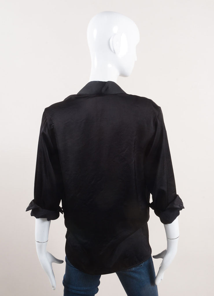 Stella McCartney Black Tuxedo Style Shirt Jacket Backview