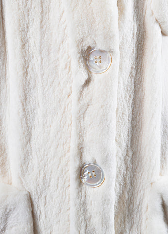 Valentino Cream Sheared Fur Jacket Detail