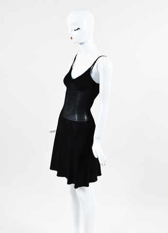 Chanel Spring 2008 Black Jersey Knit Camisole Dress Sideview