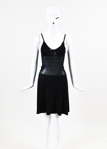 Chanel Spring 2008 Black Jersey Knit Camisole Dress Frontview