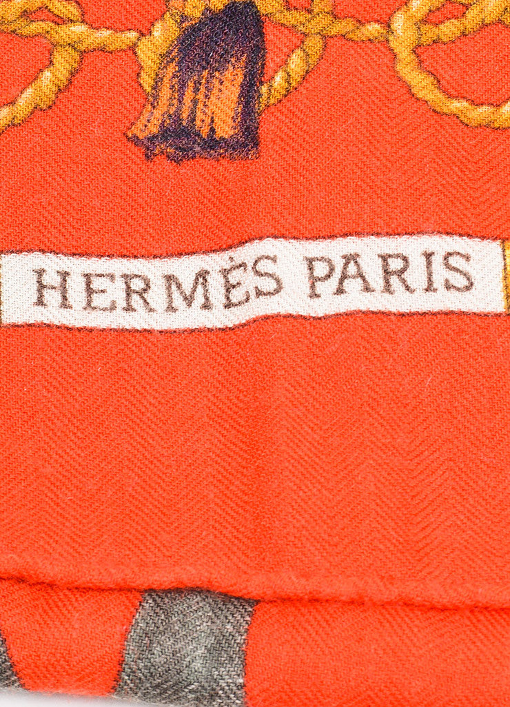 "Hermes Red and Multicolor Twill ""Les Oiseaux Du Roy"" Square Scarf Brand"
