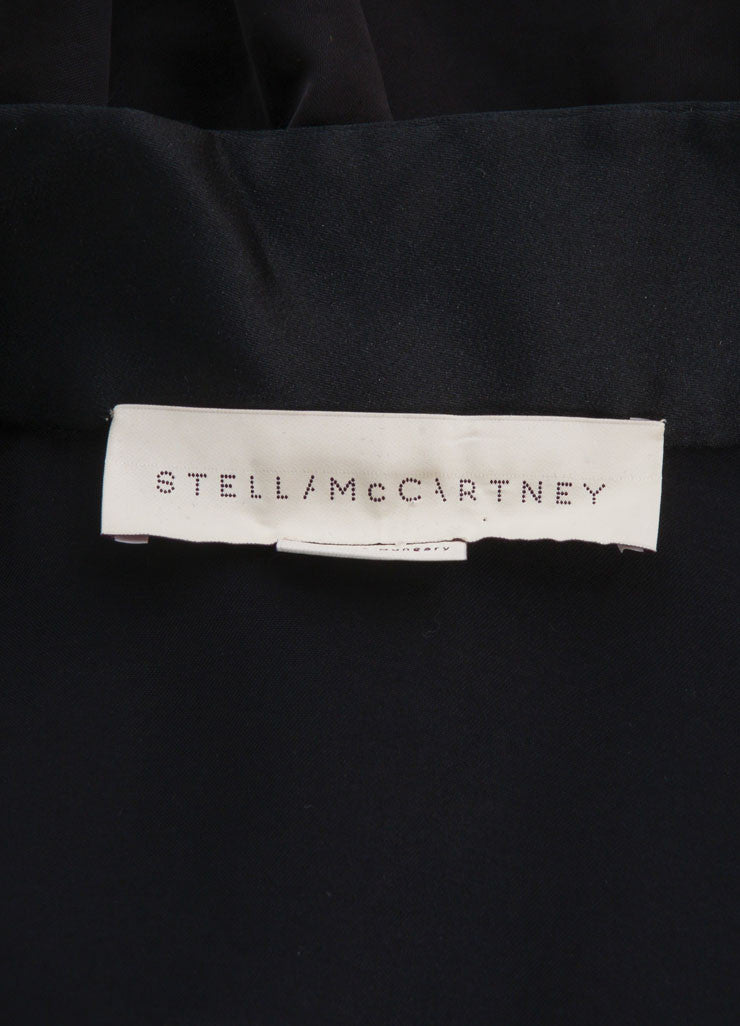 Stella McCartney Black Tuxedo Style Shirt Jacket Brand
