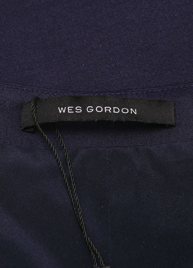 Wes Gordon New With Tags Navy Cropped Flare Pants Brand