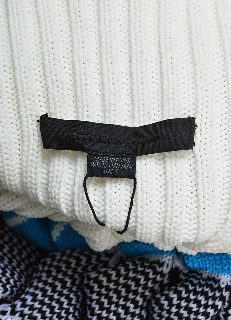 "White, Blue, and Black Alexander Wang ""Bubble Wrap Poseidon"" Sweater Brand"