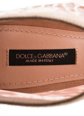 "Dolce & Gabbana Dusty Pink Suede Lace ""Keira"" Peep Toe Booties Brand"
