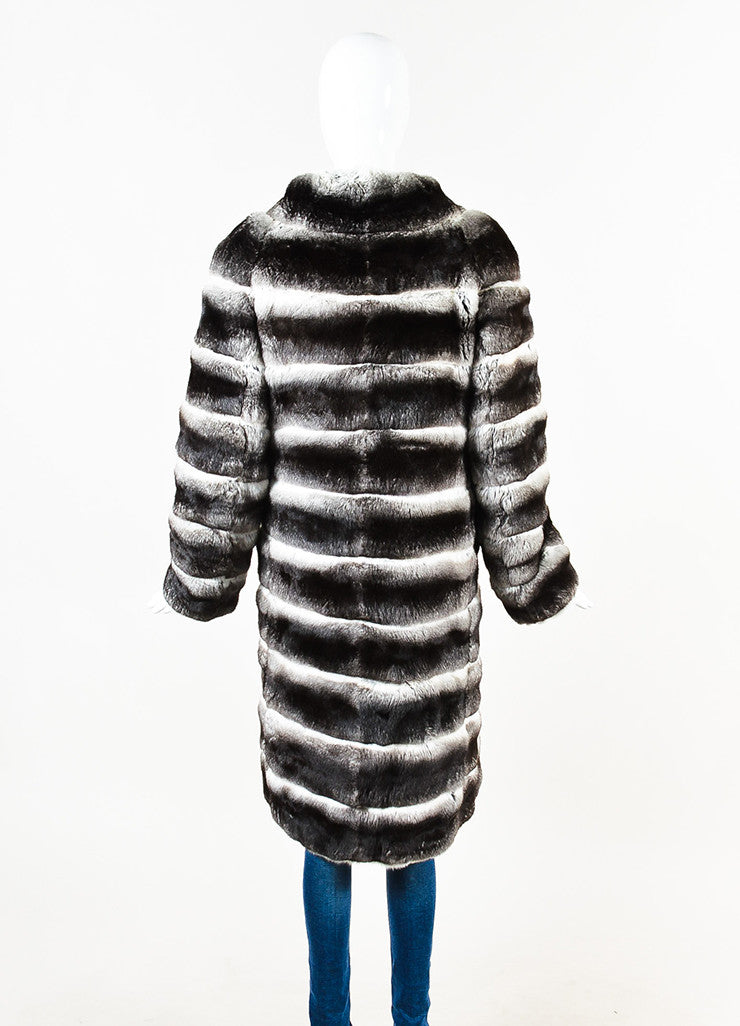 Fendi Grey Chinchilla Fur Quarter Length Long Sleeve Coat