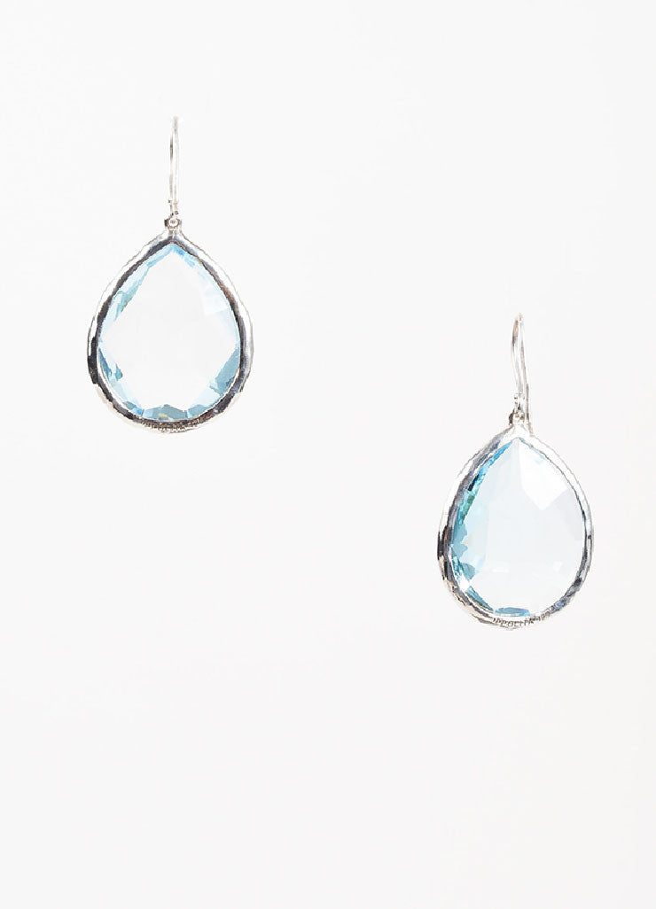 "Ippolita Sterling Silver and Topaz ""Rock Candy Large Teardrop"" Earrings Frontview"
