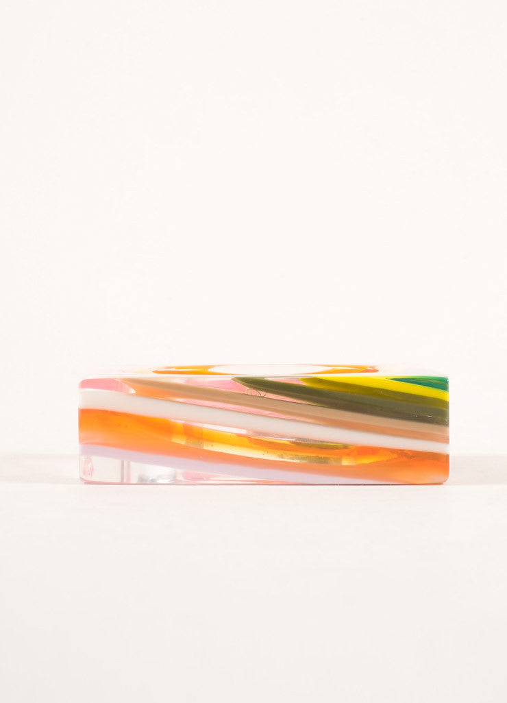 Sobral Multicolor Bright Resin Square Bangle Bracelet Sideview