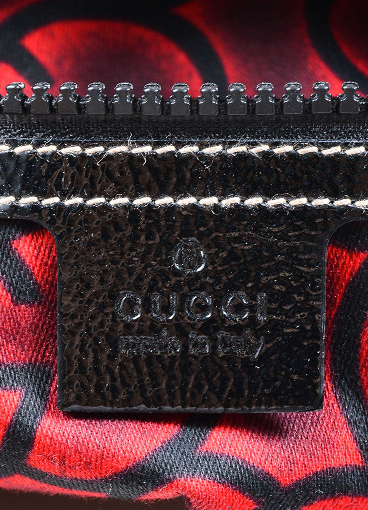 Gucci Black Patent Quilted Leather 'GG' Hobo Bag Brand