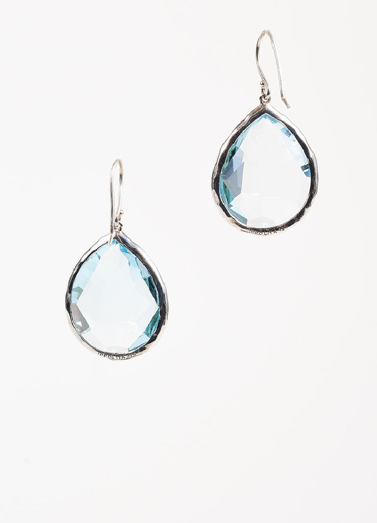 "Ippolita Sterling Silver and Topaz ""Rock Candy Large Teardrop"" Earrings Backview"
