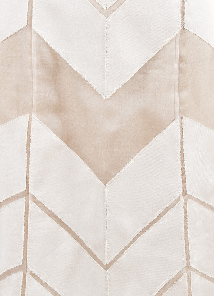 J. Mendel Blush Pink Silk Chiffon Cut Out Fray Panel Shift Dress Detail