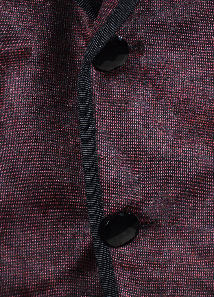 Men's Etro Maroon Black Corduroy Two Button Sport Blazer Jacket Detail