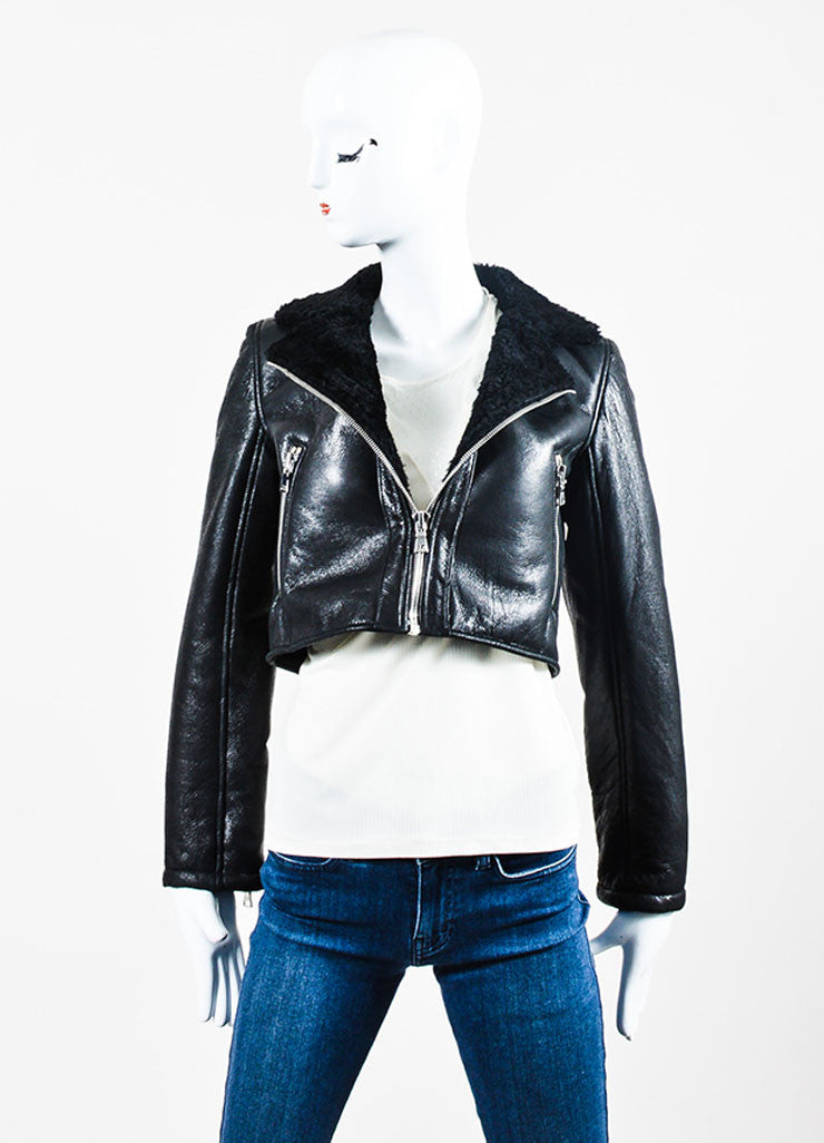 "The Perfext Black Leather Boxy Motorcycle ""Wooster"" Jacket Frontview"