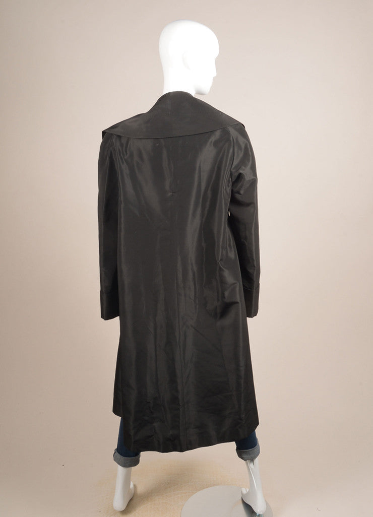Escada Black Open Front Opera Coat Backview
