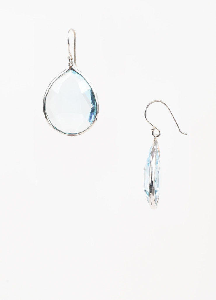 "Ippolita Sterling Silver and Topaz ""Rock Candy Large Teardrop"" Earrings Sideview"