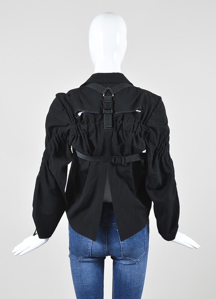 Junya Watanabe Comme Des Garcons Black Buckle Strap Harness Jacket Backview