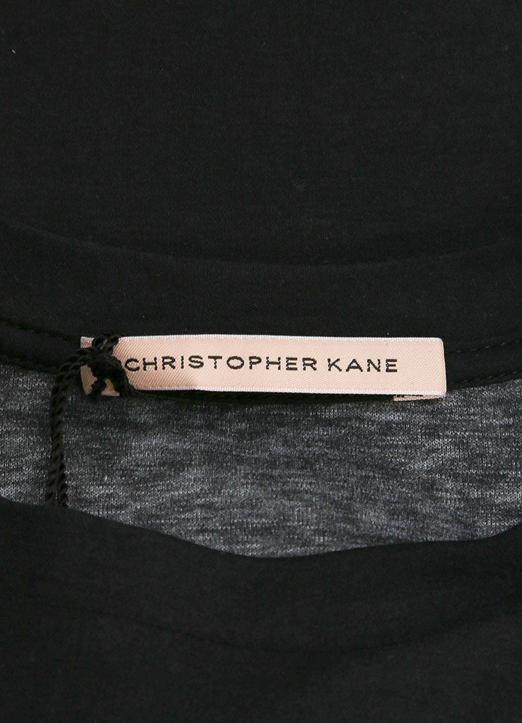 Christopher Kane New With Tags Black, Green, and Pink Floral Print Short Sleeve T Shirt Brand