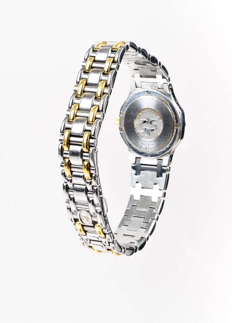 "Concord Stainless Steel and 18K Yellow Gold ""Saratoga"" Two Tone Bracelet Watch Backview"